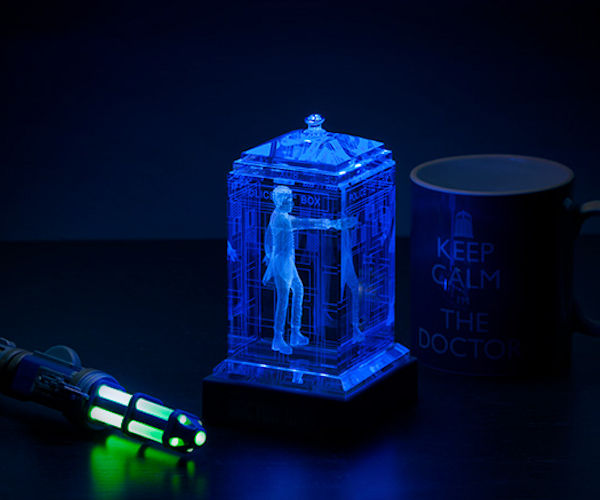 Glowing Crystalline TARDIS