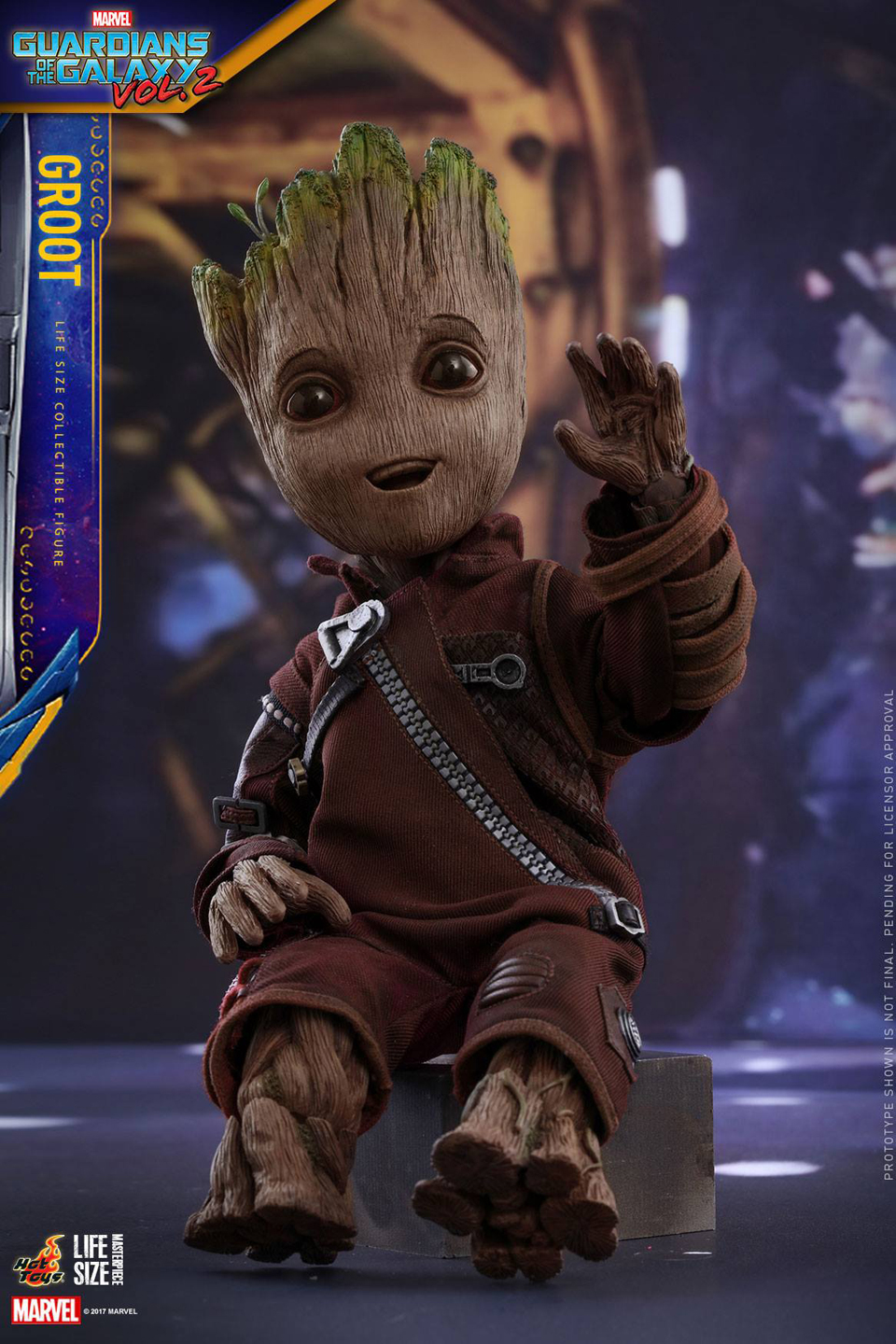 Hot Toys GotG Vol. 2 Groot Life-size Action Figure