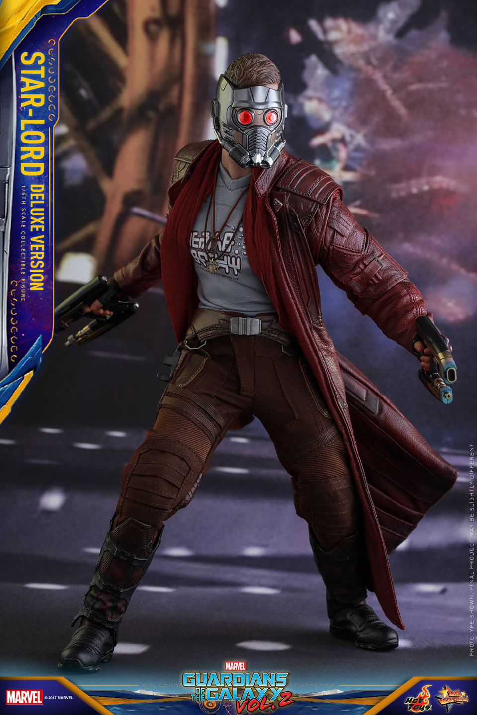 Hot Toys GotG Vol. 2 Star-Lord 1/6 Scale Action Figure