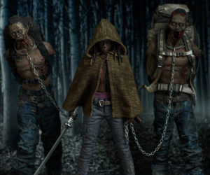 Threezero The Walking Dead Michonne & Pets Action Figures