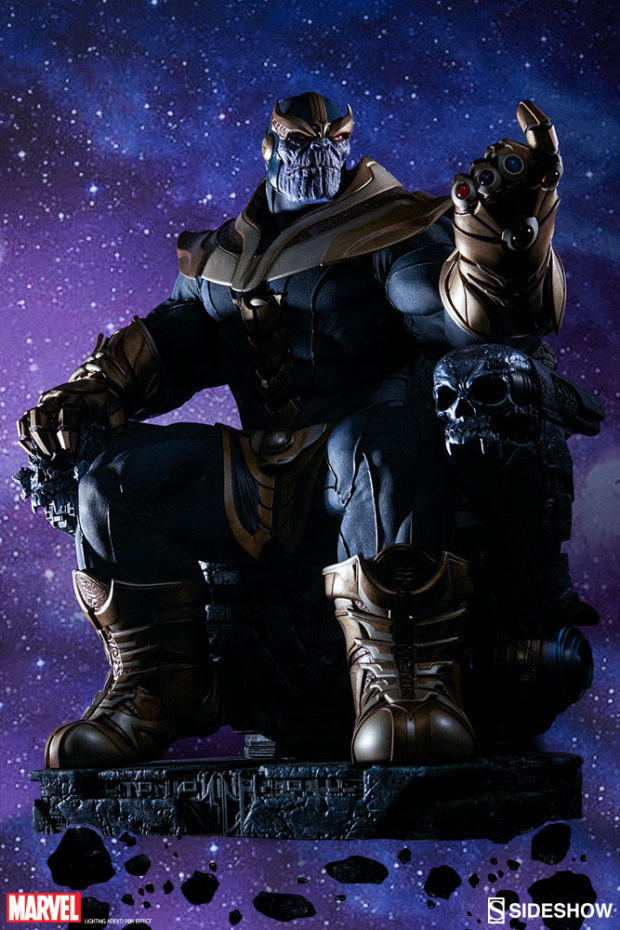 sideshow thanos on throne maquette is a real beast