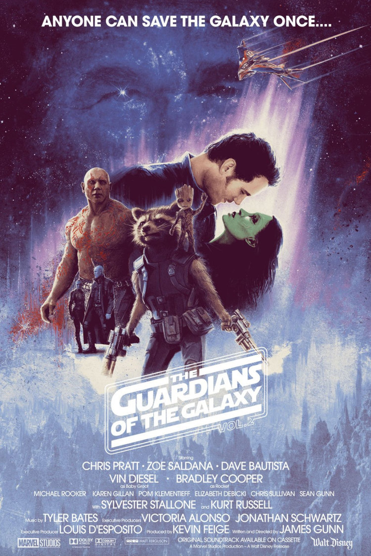 The Empire Strikes Back Guardians of the Galaxy Vol. 2 Poster