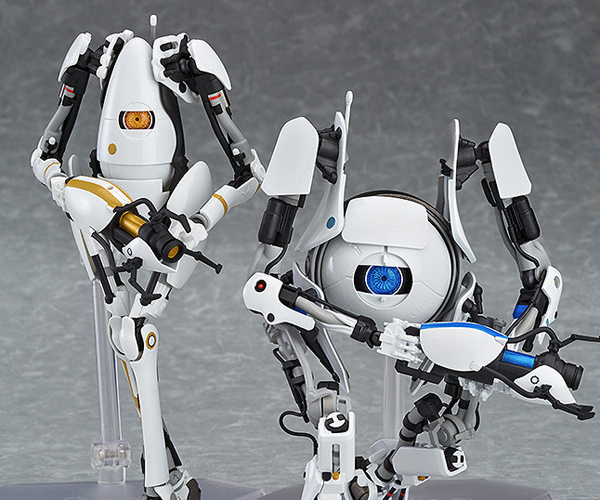 Figma Portal 2 Atlas and P-body Action Figures