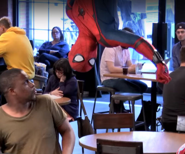 Spider-Man Surprises Customers at a NYC Starbucks