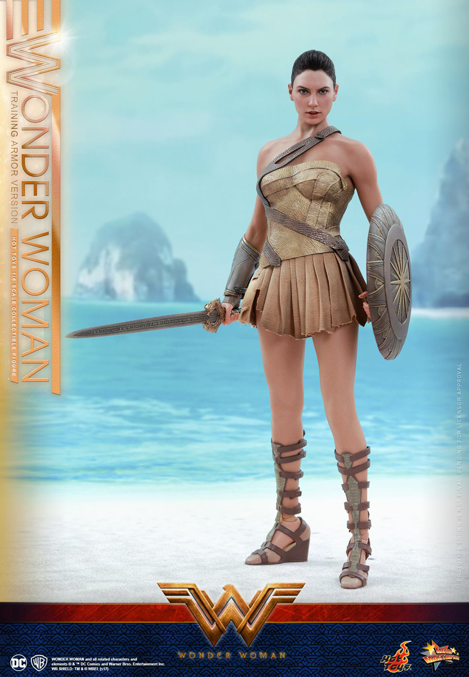 Hot Toys Wonder Woman Training Armor 1/6 Scale Action Figure