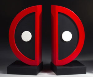 Gentle Giant Deadpool Logo Bookends