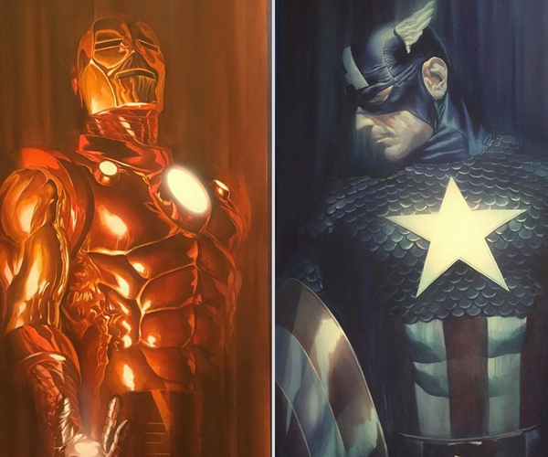 Alex Ross Marvel Shadows Posters