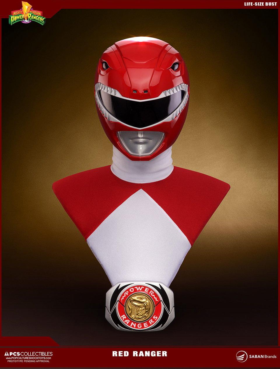 PCS MMPR Red Ranger Life-size Bust