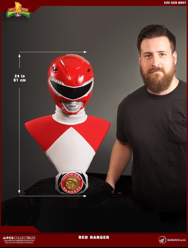 d11ed6386 PCS MMPR Red Ranger Life-size Bust - MightyMega