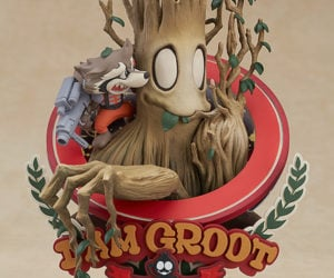 Good Smile Marvel Manga Variant Groot Superlog Statue