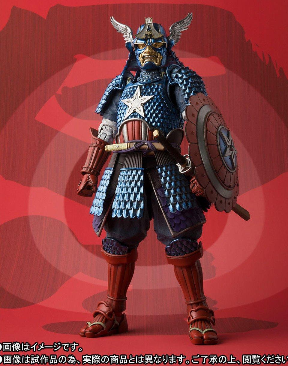 Manga Realization Samurai Captain America 1/12 Scale Action Figure